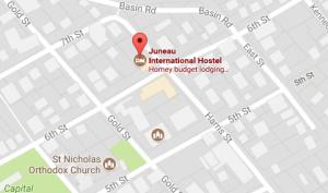 juneau hostel map